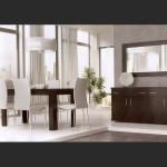 Σύνθεση Τραπεζαρίας με Μπουφέ, καθρέπτη, τραπεζαρία και καρέκλες